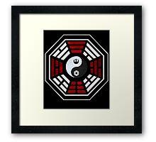 star wars yin yang version 4  Framed Print