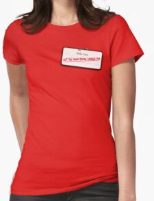 C3PO's name tag Womens Fitted T-Shirt