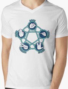 Rock Papers Scissors Shirt Mens V-Neck T-Shirt