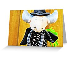 witch on a broomstick Greeting Card