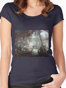 Ho Chi Minh City Night Market Women's Fitted Scoop T-Shirt