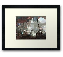 Ho Chi Minh City Night Market Framed Print