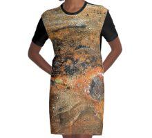 AGED WALL-18 Graphic T-Shirt Dress