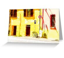 Fognano: view with bicycle Greeting Card