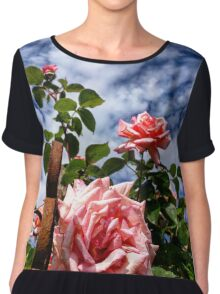 The pink garden roses Chiffon Top