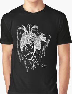 Psycho Heart (White) Graphic T-Shirt