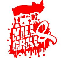 Kill & Grill Barbecue Graffiti Stamp by Style-O-Mat
