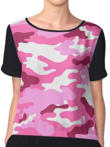 Camouflage (Red) Chiffon Top