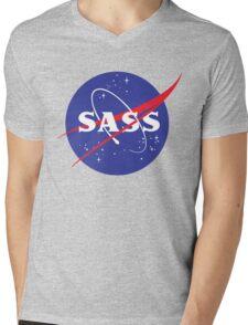 SASS - sassy, feminist, girl geek, nerdy, female scientist gift, nasa gift, astronaut gift, space, cosmos, galaxy Mens V-Neck T-Shirt