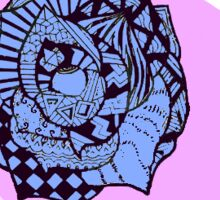 Geometric Rose Sticker