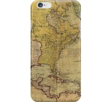 Map of North America (1765) iPhone Case/Skin