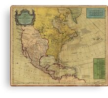 Map of North America (1765) Canvas Print