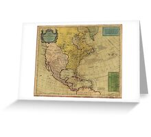Map of North America (1765) Greeting Card