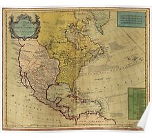 Map of North America (1765) Poster