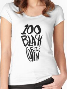 100 Black Coffins Women's Fitted Scoop T-Shirt