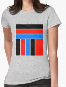 BLOCKED COLOURS Womens Fitted T-Shirt