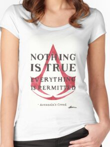 Nothing is True... Women's Fitted Scoop T-Shirt