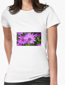 Purple flowers Womens Fitted T-Shirt