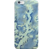 Blue and Yellow Texture iPhone Case/Skin