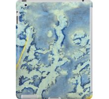 Blue and Yellow Texture iPad Case/Skin