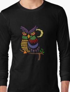 Cool Artistic Owl Bird Abstract Art Long Sleeve T-Shirt