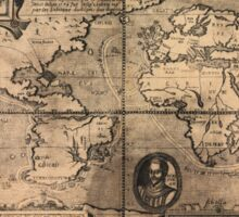 Map of the World (1581) Sticker