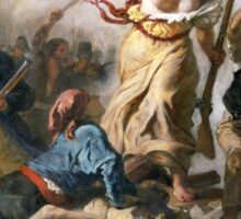Liberty Leading the People by Eugène Delacroix (1830) Sticker