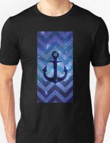 Anchor Chevron Nebula Unisex T-Shirt