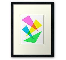 80s Triangular Design Framed Print