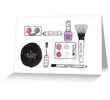 Makeup Collection Greeting Card