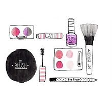 Makeup Collection Photographic Print