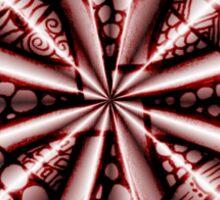 Red Metallic Celtic Knot Sticker