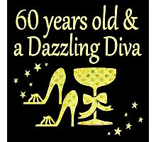 GOLD 60 YEARS OLD AND A DAZZLING DIVA DESIGN Photographic Print