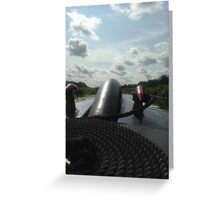 Canal Boat Prow Greeting Card