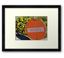 Entry/No Entry Framed Print