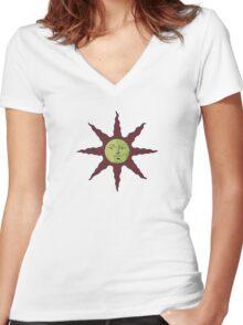 Praise the sun - Templar Women's Fitted V-Neck T-Shirt