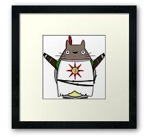 Praise the Totoro Framed Print