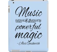 Music is Powerful Magic - AG iPad Case/Skin