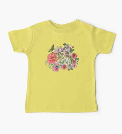 Botanical Floral Quote Baby Tee