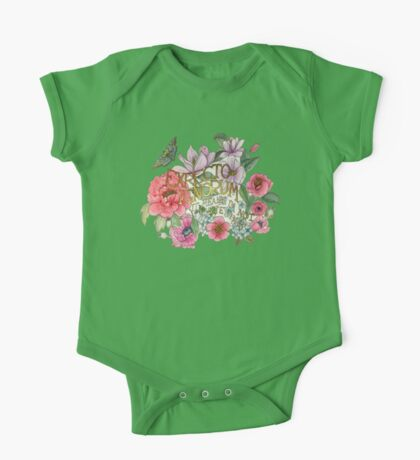 Botanical Floral Quote One Piece - Short Sleeve