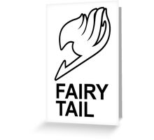 Fairy Tail Anime Guild Mark Logo Render Design Greeting Card