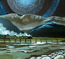 Night Passage - WW480 Steam by Patricia Howitt