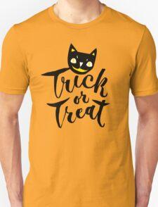 Trick or Treat - Hand Lettering Design Unisex T-Shirt