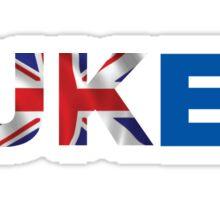 We're All fUKed. UK Brexit T-shirt Sticker