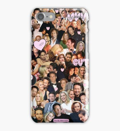 Gillian Anderson and David Duchovny collage iPhone Case/Skin