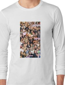 Gillian Anderson and David Duchovny collage Long Sleeve T-Shirt