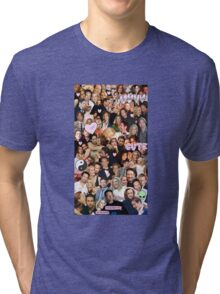 Gillian Anderson and David Duchovny collage Tri-blend T-Shirt