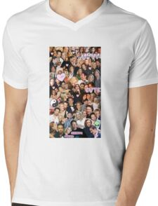 Gillian Anderson and David Duchovny collage Mens V-Neck T-Shirt