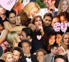 Gillian Anderson and David Duchovny collage Sticker