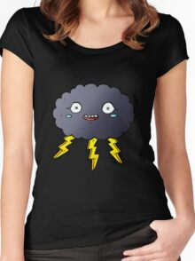 Thunder and Lightening Women's Fitted Scoop T-Shirt